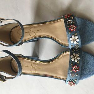 Jessica Simpson Light Blue Denim Sandal